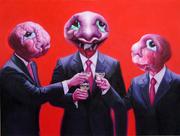 """""""外星人""""系列14号.布面油画。200x150cm。2009年"""