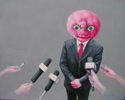 """""""外星人""""系列19号.布面油画。120x150cm.2009年."""
