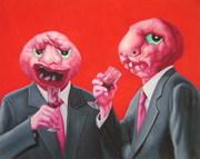 """""""外星人""""系列16号.布面油画。200x150cm。2009年"""