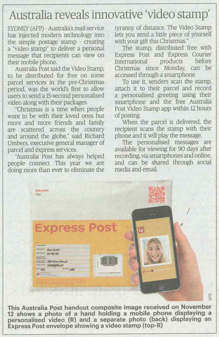 "Australia Post ""Video Stamp"""