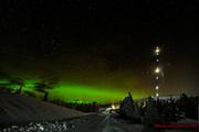Norrsken den 3 feb 2013 kl. 01:45, -25,6°C på toppen av Akkanålke 750 möh. i Arvidsjaur.