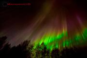 Norrsken över Moskosel. Den 13 april 2012.