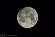 Supermånen sex minuter efter midnatt den 14 nov. 2016 i Moskosel.