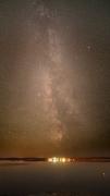 Vintergatan över Fjärden