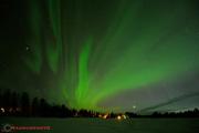 Norrsken den 11 april 2015 kl. 22:40 över Moskosel.
