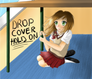 Student created graphic in Manga Style