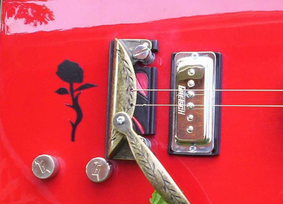 gretch 5850 bo diddley 3 stringer mod by swamp witch guitars