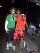 With my nephew Sagar at the Mahim Bus Stand