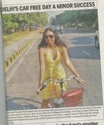 DELHI'S CAR FREE DAY A MINOR SUCCESS