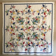 Finished Spring Flowers Quilt