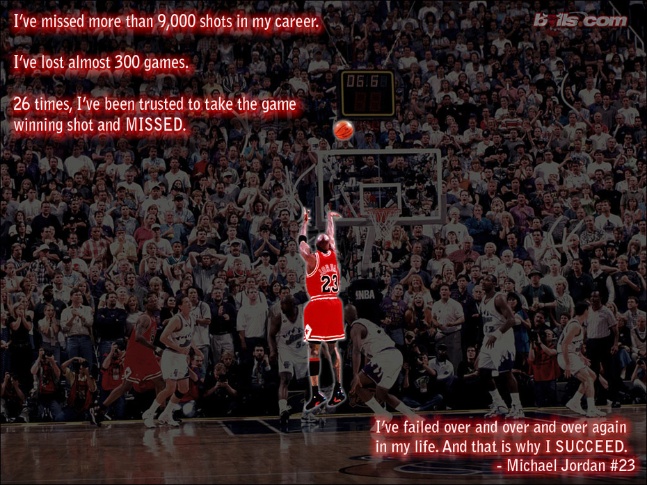 Michael Jordan quote on Success