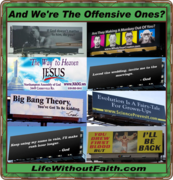 Are atheist billboards offensive?