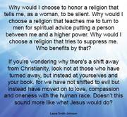 Laura Smith-Johnson, Why would I choose to honor a religion that tells me ...