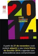 """AGENDA LIVRO """" DIÁRIO DO ESCRITOR """" 2014 * Antonio Cabral Filho - RJ"""