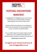 Volunteers wanted for Whitecross Street Party