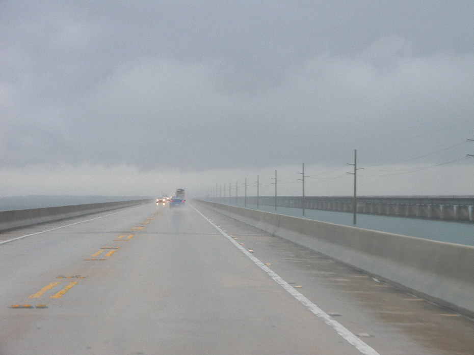 Storm is passing over on the 7 Mile Bridge