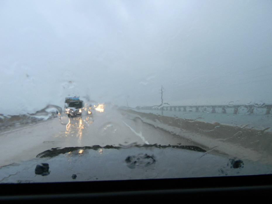 Caught in a storm on the 7 mile bridge