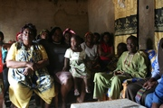 Introducing the programme to new groups in Bamunka
