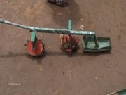 July 2014: Rotary weeder model 1- with two wheels