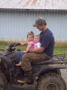 4 wheeler ride with dad