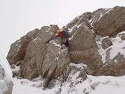 Winter climbing on Gable and Mob winter walk in Langdales