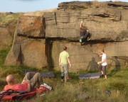 Evenings bouldering at Standedge