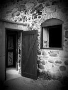 Stone Barn Silo Entrance