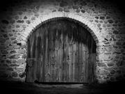 Stone Barn Arched Barn Door