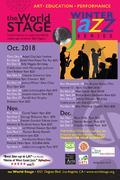 The World STAGE Ad Card Calendar/Schedule Oct., Nov. & Dec. '18