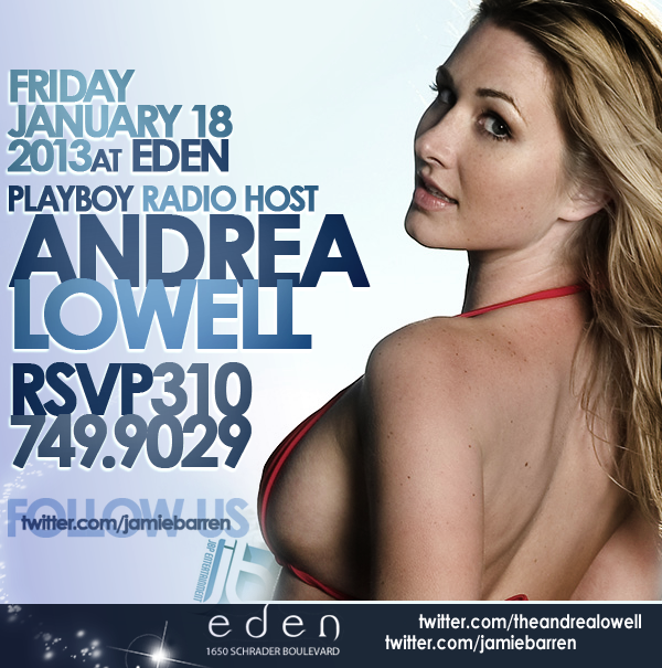 Playboy Radio Andrea Lowell Birthday Bash