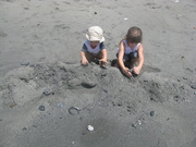 Digging for shells and who knows what else