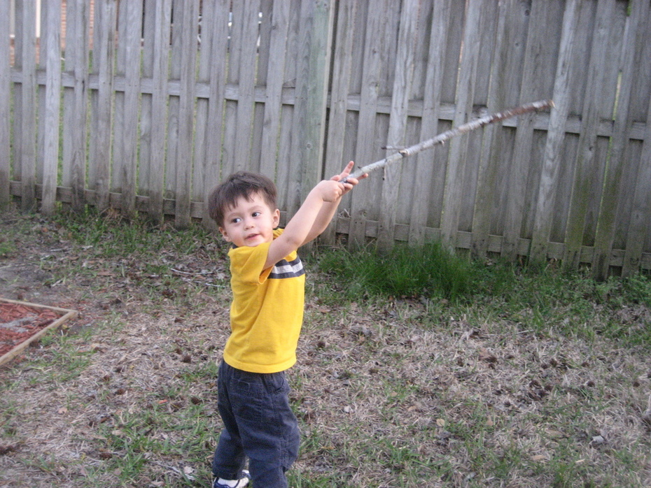 Boy and a stick