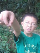 Yan Zi Qi now caught a dragonfly!
