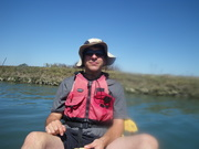 sea kayaking with students in Elkhorn Slough