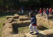 haybale maze at Sharp Early Childcare