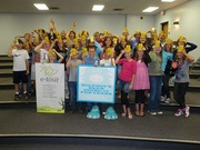 """Leave No Trace's e-Tour working with fifth graders from Merton, WI to get the 7 principles """"into their heads""""."""