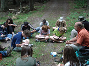 Outdoor English class at Conserve School