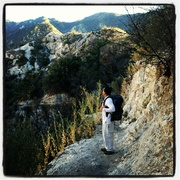 In the San Gabriel Mountains coming back from Switzer Falls