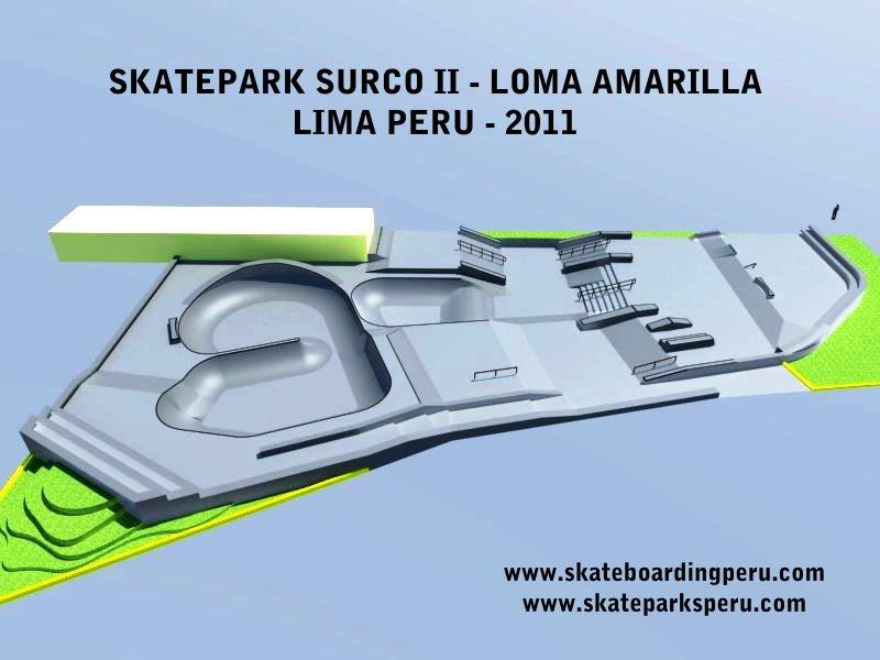 Surco Loma Amarilla 2011 - En este 3D no se ve un cacho recto de 2.5 metros que tiene la baranda entre muros del street.