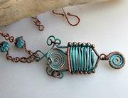 Antiqued Basket Pendant Necklace