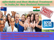 Affordable and Best Medical Treatment in India for New Zealand Nationals