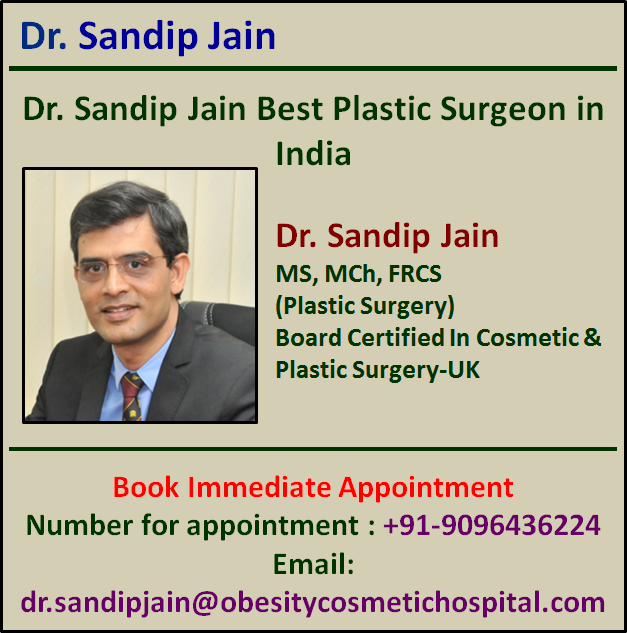 Dr. Sandip Jain has a Great Reputation with Invaluable Experience in Cosmetic Surgery in India