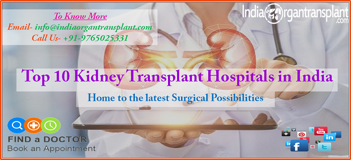 Top 10 Kidney Transplant Hospitals in India;Home to the latest Surgical Possibilities