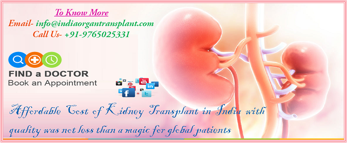 Affordable Cost of Kidney Transplant in India with quality was not less than a magic for global patients