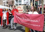 Demo für das Grundeinkommen am 1. Mai 2010 in Köln