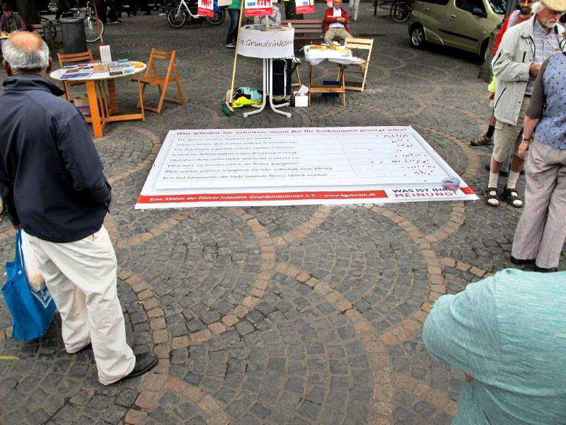 Bodenzeitung auf dem 20. Selbsthilfetag in Bonn