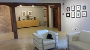 Downstairs Gallery of Collage Museum in Santa Fe