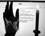 ANTI BULLY POSTER Weightless Hands b and w