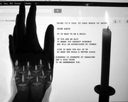 ANTI BULLY POSTER  Multiple Candles b and w