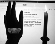 ANTI BULLY POSTER  Global Hands B and W